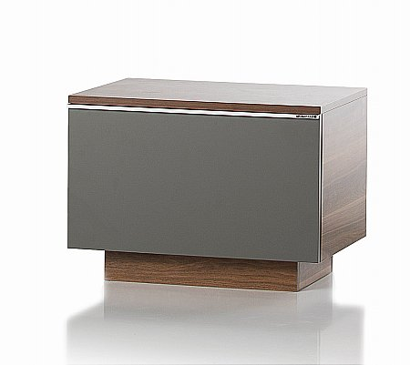 Fusion Storage Unit in Walnut and Grey