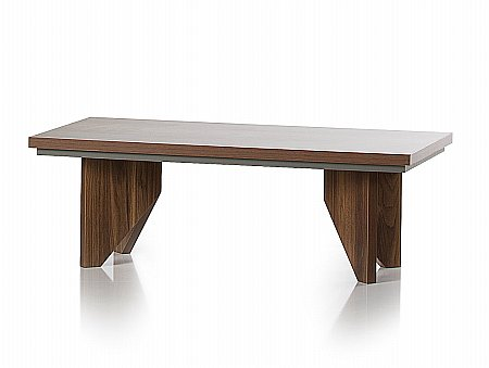 Fusion Coffee Table in Walnut and Grey