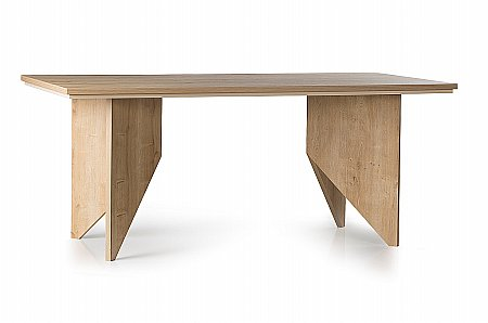 Fusion Dining Table in Oak and Cream