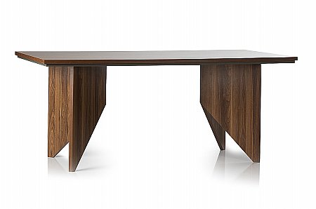 Fusion Dining Table in Walnut and Grey