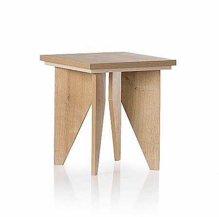 Fusion Lamp Table in Oak and Cream