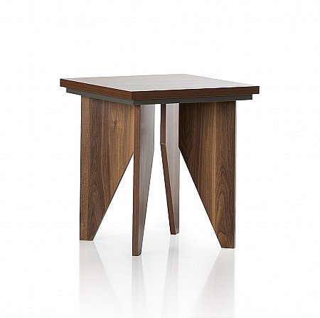 Fusion Lamp Table in Walnut and Grey