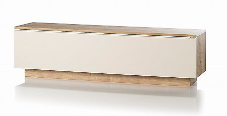 Fusion TV-AV Unit in Oak and Cream