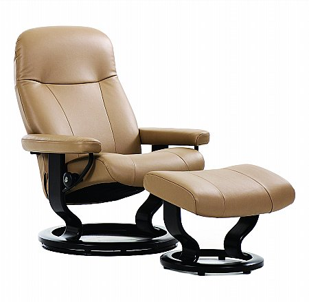 Garda Leather Recliner with Classic Base