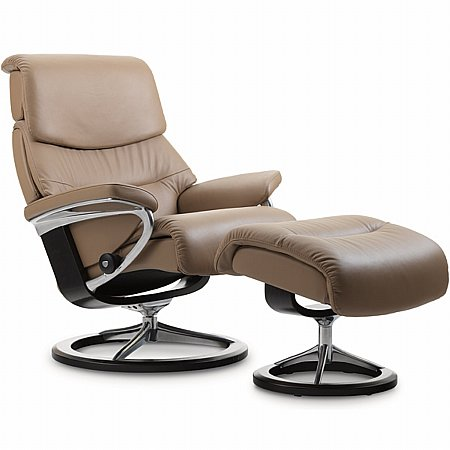 Capri Leather Recliner with Signature Base