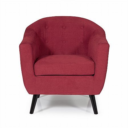 Evie Occasional Chair in Red