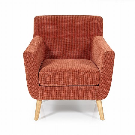 Kelso Occasional Chair in Orange