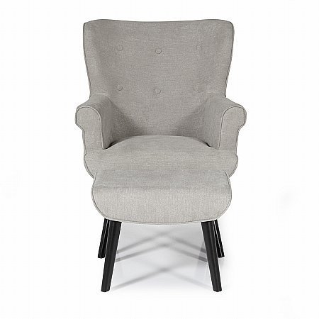 Oban Occasional Chair in Grey