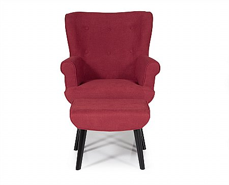 Oban Occasional Chair in Red