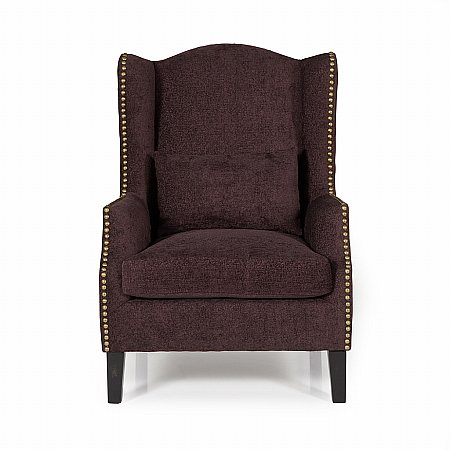 Stirling Occasional Chair in Aubergine