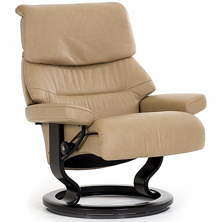 Capri Leather Recliner with Classic Base