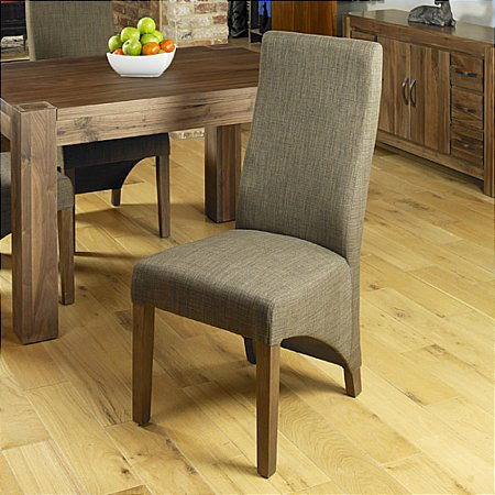 Shiro Walnut Upholstered Dining Chair