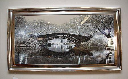 New York Liquid Art Print and Frame