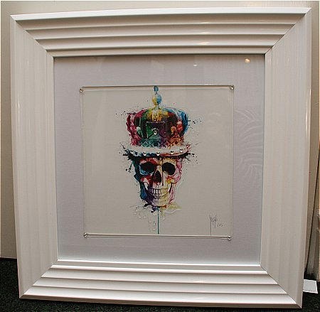Skull and Crown Liquid Art Print and Frame