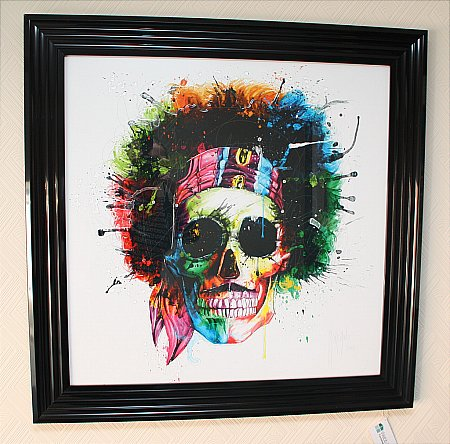 Jimi Hendrix Liquid Art Print and Frame