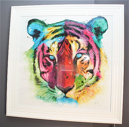Tiger Liquid Art Print and Frame