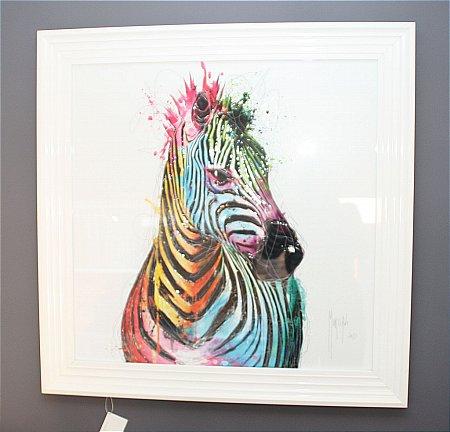 Zebra Liquid Art Print and Frame