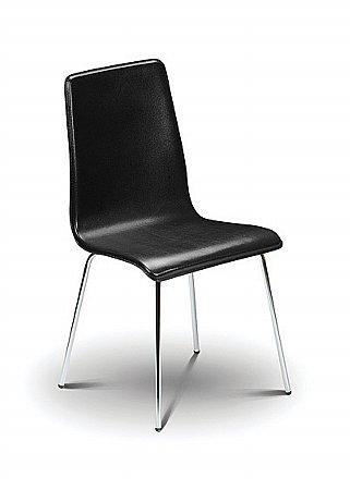 Mandy Black Leather Chair