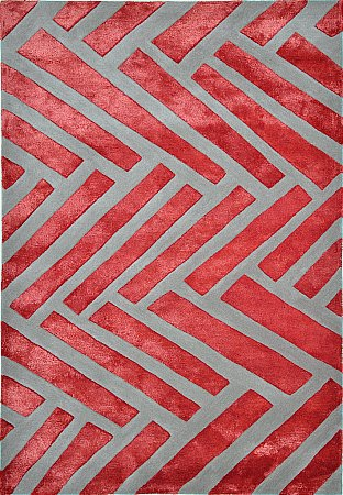 Cubist Volcanic Red Rug