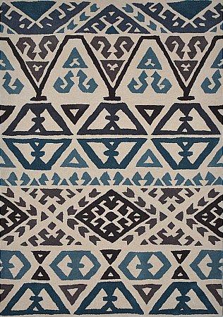 Mayan Aztec Sapphire Rug