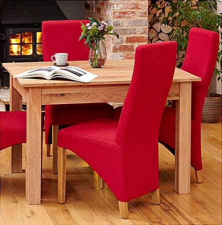 Mobel Oak Pair of Full Back Upholstered Dining Chairs