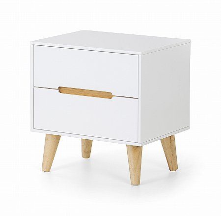 Alicia 2 Drawer Bedside Cabinet