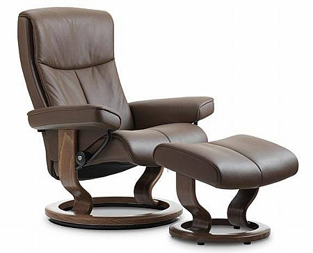 Peace Leather Recliner with Classic Base