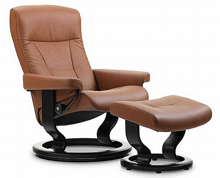 President Leather Recliner with Classic Base