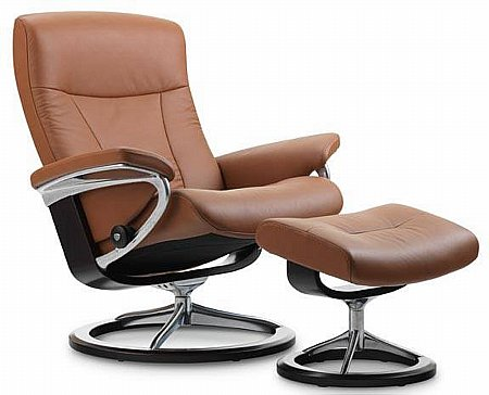President Leather Recliner with Signature Base