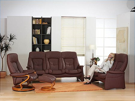 Tanat Zerostress Leather Recliner Suite