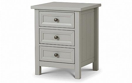 Maine 3 Drawer Bedside Cabinet