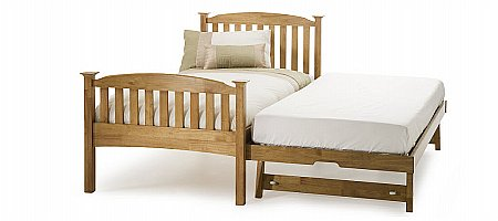 Eleanor High Foot End Bed with Guest Bed Oak