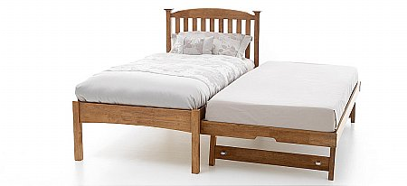 Eleanor Low Foot End Bed with Guest Bed Oak