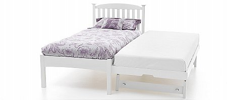 Eleanor Low Foot End Bed with Guest Bed White