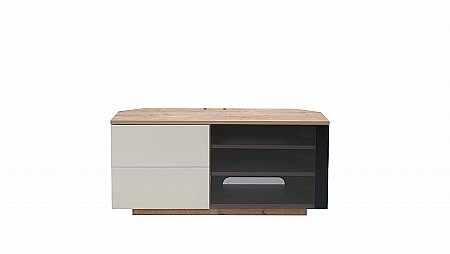 Tokyo TV Stand in Oak and Cream