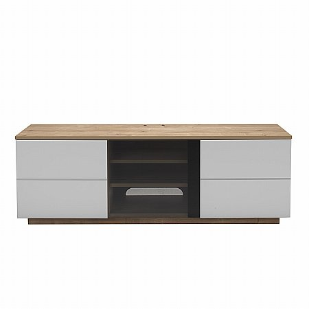 London TV Stand in Oak and White