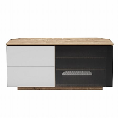 Tokyo TV Stand in Oak and White