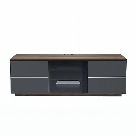 London TV Stand in Walnut and Grey