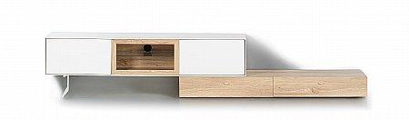 Pandora AV Cabinet Lowboard Set in Cream