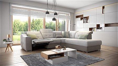 Aura Leather Corner Suite