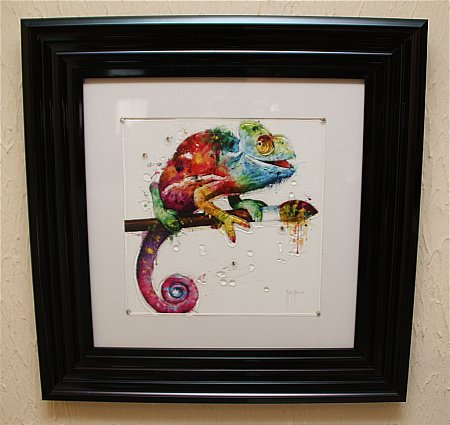 Chameleon Liquid Art Print and Frame
