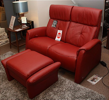 Humber 2 Seater Manual Recliner Sofa and Footstool