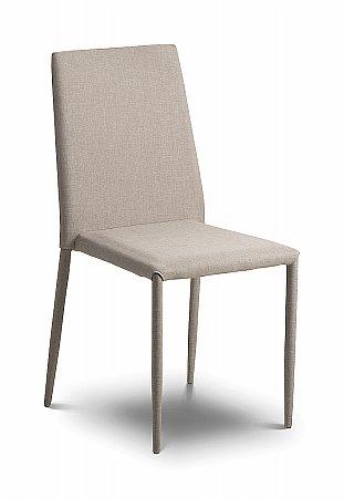 Jazz Sand Linen Fabric Dining Chair