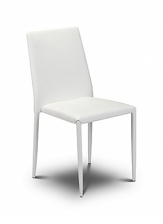 Jazz White Stacking Chair