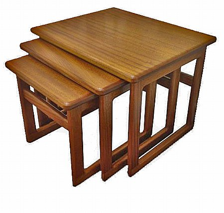 Solid Top Large Nest of Tables