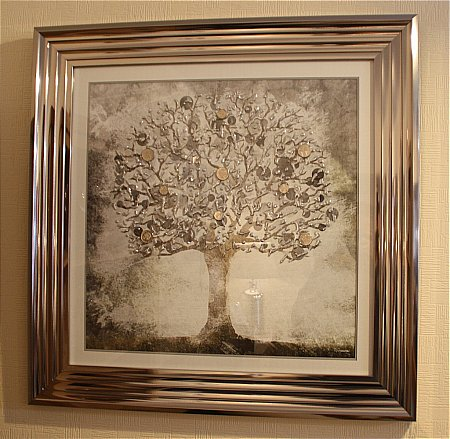 Silver Money Tree Print and Frame