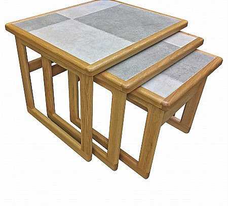 Slate White Large Nest of Tables