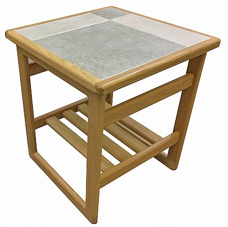 Slate White Lamp Table