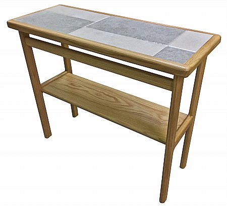 Slate White Side Table