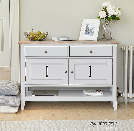 Signature Grey Small Sideboard